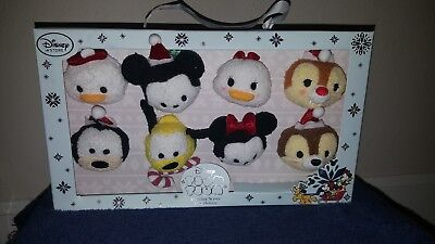 Disney Store Holiday Series Set of 8: Minnie, Daisy, Pluto, Mickey Tsum Tsum NIB