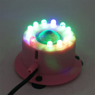 Submersible 12LED Round Light For Aquarium Fish Tank Ponds Garden Decor Eu Plug