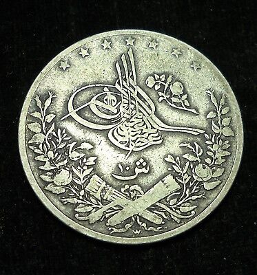 *** Egypt 1291/10 1884 10 Qirsh.  World - Foreign Silver Coin. Free Shipping!