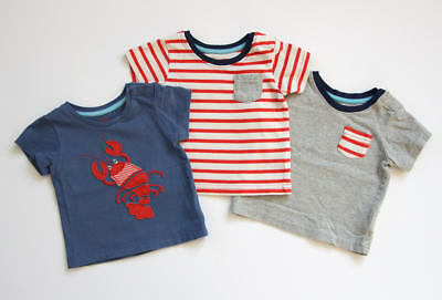 c0aeb87cf Mini Boden Baby Boy T-Shirts Lobster Applique Tee Stripes Pockets 3-6 months