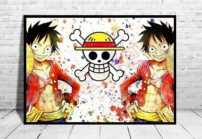 "One Piece Anime Poster 33x47/"" Manga Print Japan Geek Luffy Wall Art Gift A195"