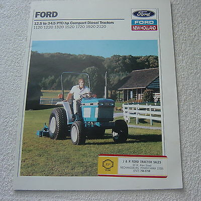 FORD 12.5 to 34.5 PTO hp COMPACT DIESEL TRACTORS c 1970 SALES BROCHURE