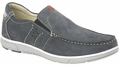 Mens Shoes Leather Nubuck Smart Leisure Slip On Lightweight Casual Boat Size