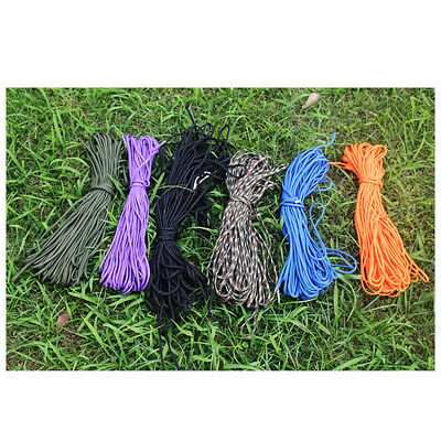 100ft/31m 7 Strand Parachute Cord Rope Lanyard for Camping Hiking Travel Outdoor