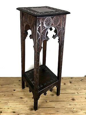 Antique Burmese Wooden Jardiniere Stand / Anglo-Indian / Plant Pot Furniture