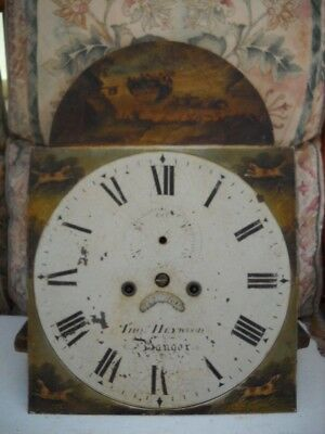 8 Day Arch Dial Longcase Clock Movement For Spares.