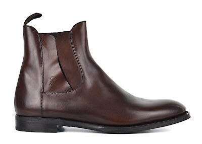 Sutor Mantellassi Mens Brown Leather Chelsea Boots 8.5 UK US9.5 RTL $950