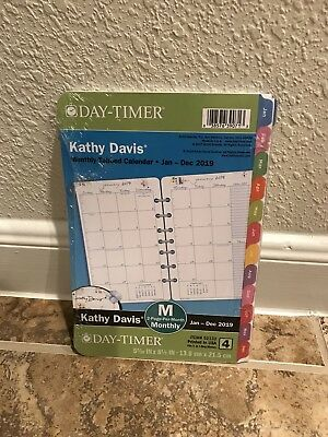 Day-Timer Planner Refill 2019 Size 4 Jan Dec Monthly Kathy Davis Floral Tabbed 7