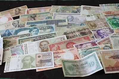 Lot of  40 World Bank notes Egypt Germany Italy Mexico Spain, Portugal , Belgium
