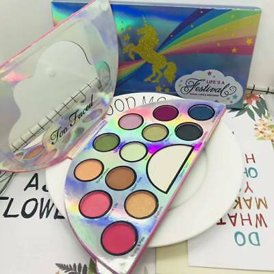 HOT TOO FACED Eye Shadow & Highlighter Makeup Palette Life's A Festival UNICORN