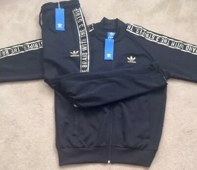 new style 89435 40157 NEW Mens Adidas Originals SST FZ Tracksuit Set Jacket   Bottoms Ltd Gold  Edition