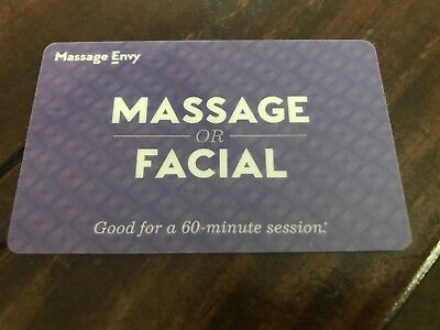 MASSAGE ENVY GIFT Certificate - Good for 60 minute MASSAGE or FACIAL ...