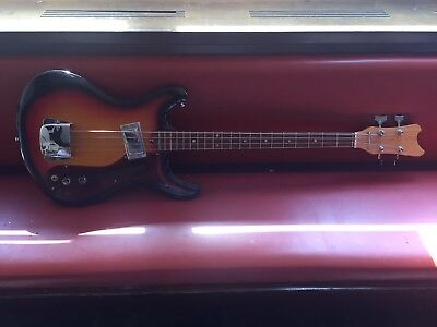 60s Super Rare Vintage Mosrite Copy Bass Shortscale Made In Japan Beat Garage !