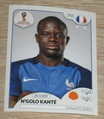 "Image Sticker PANINI #190 ""N'Golo KANTE"" (France) FIFA World Cup Russia 2018"