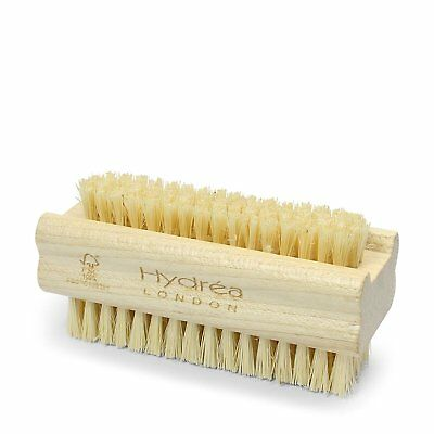 Hydrea London Dual Sided Beechwood Nail Brush with Tough Cactus Bristles WSH1S