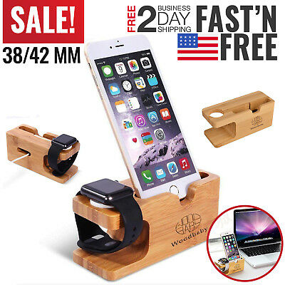 iPhone Charging Dock iWatch Apple Watch Stand Station Charger Holder 5 6 7 8 X