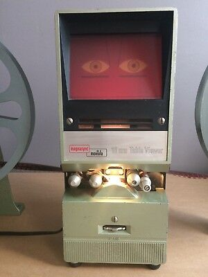 Magnasync Moviola 16mm Table Viewer - Excellent Working Condition with Bulb