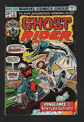 Ghost Rider #15 VG- 3.5 Cream to Off White Pages