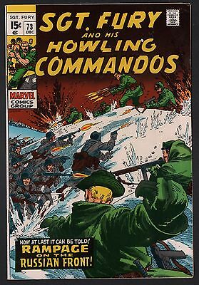 Sgt. Fury & His Howling Commandos #73 VG+ 4.5 Off White Pages