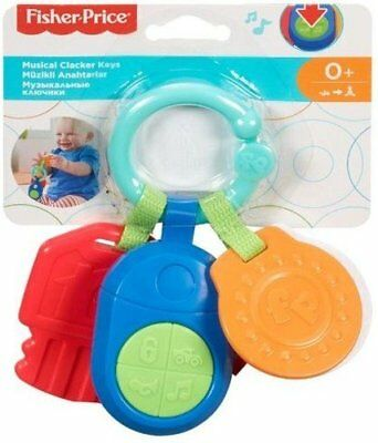 Fisher Price Musical Clacker Keys Baby Toddler Play Sounds Learn Enjoy Play Fun