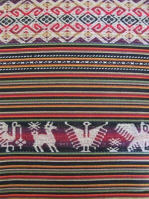 Peruvian Andean Inca Woven Fabric Double-sided Reversible Tablecloth Tapestry