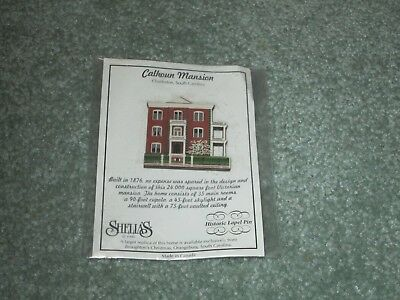 New Rare Shelia's Collectibles Calhoun Mansion Charleston Sc Historic Lapel Pin
