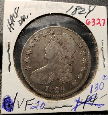 1829 Capped Bust Half Dollar 6327