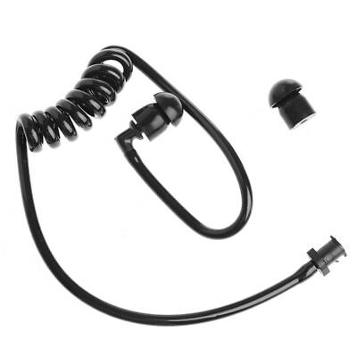 Black Replacement Coil Acoustic Air Tube Earplug For Radio Earpiece Headset
