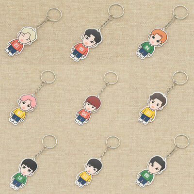 1pc Girls Cartoon Kpop EXO Fans Keychain Keyring Cute Pendant Bag Accessories
