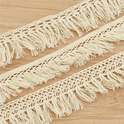 3Yards Cotton Fringe Trimmings Beige Tassel Lace Sewing Embellishment Decoration
