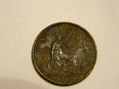 1860 Great Britain Farthing  --- Lot #2864