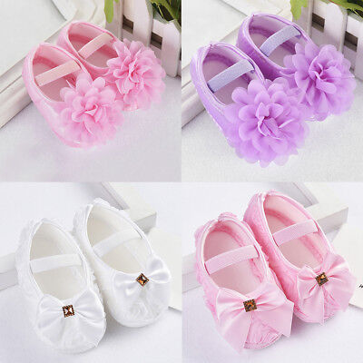 Newborn to 18M Infants Baby Girl Soft Crib Shoes Moccasin Prewalker Sole Sh H0R2