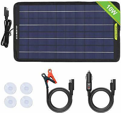 PORTABLE 5w 10w SOLAR PANEL 12v BATTERY CHARGE for Car Boat Camping Waterproof