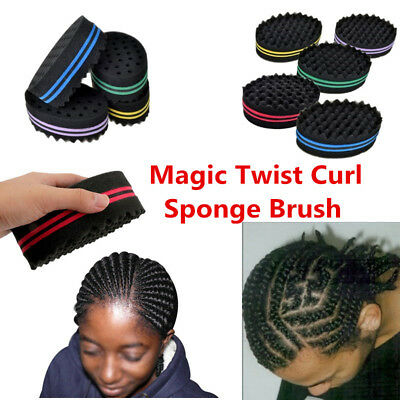 Twisted Hair Sponge Wave Barber Hair Magic Brush Doubel Sides Curl Hair Cut Tool