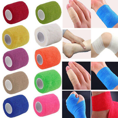 Coban Cohesive Sports Self Adhesive Athletic Support Bandage Strap Tape 5cm