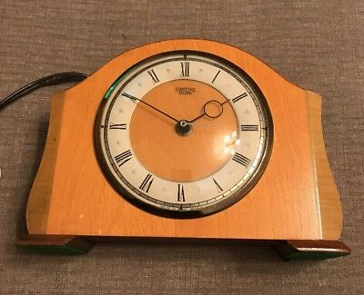 Lovely Art deco retro 1950's / 1960s  SMITHS SECTRIC MANTEL CLOCK