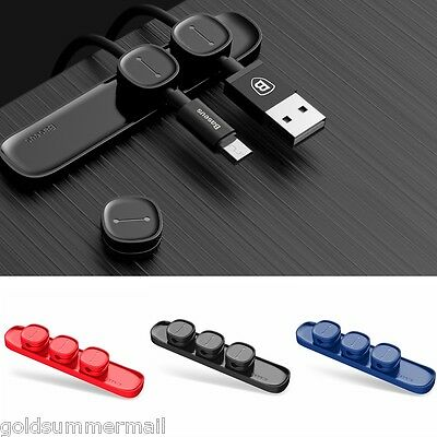 Magnetic Cable Clip Organizer Wire Cord Management Winder Line Holder