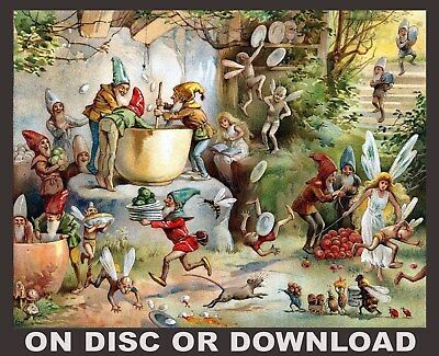 Make & Sell From Home - ANTIQUE CHILDREN'S BOOK ILLUSTS - Vol.1 Restored Images