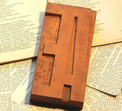 Letter Æ AE wood type character rare decorative letterpress printing block font