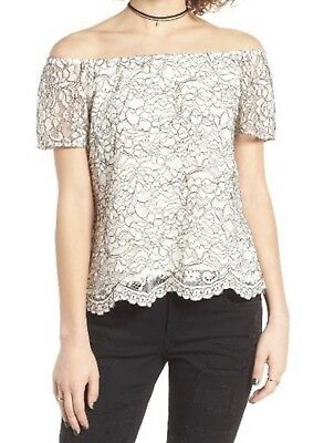 dba2887a5b3a0 WAYF LACED COLD Shoulder Bow Sleeve Top (S) Nordstrom -  19.99 ...
