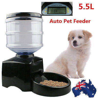 5.5L Automatic Pet Feeder Auto Program Digital Cat Dog Food Bowl Dispenser LCD