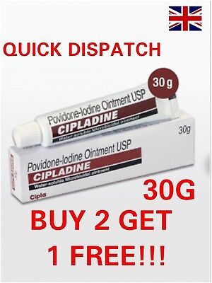 POVIDONE - IODINE OINTMENT 30G WATER SOLUBLE BURNS INFECTION CUTS Betadine First