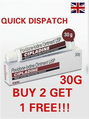 POVIDONE - IODINE OINTMENT WATER SOLUBLE BURNS INFECTION CUTS Betadine First Aid
