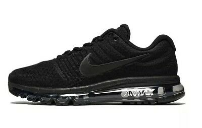 Nike Air Max 2017 Full Black Men's Trainers Shoes Size 7 To 11 Bnib
