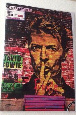 New Very Rare David Bowie Blank Greeting Card