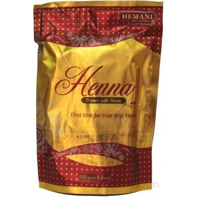 100 % Natural Henna Powder (HEMANI ) Brown with Rose