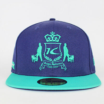 New Era 59FIFTY x King Apparel Navy/Teal Dappa Fitted Baseball Cap