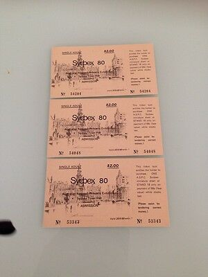 Australia 1980 Sydpex Original Tickets To National Philatelic Exhibition X 3