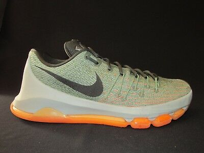 hot sale online 2b8cd 9d5c4 Nike KD 8 Lunar Low Grey Alligator Green Bright Citrus 749375-033 Men's US  9M
