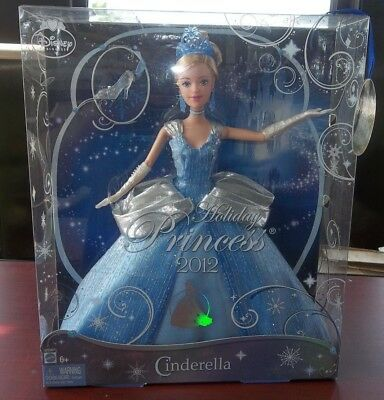 CINDERELLA Disney HOLIDAY Princess 2012 MATTEL New In Package